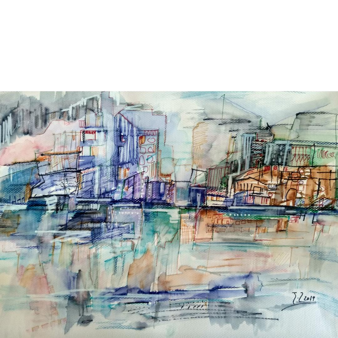 """Έκθεση σύγχρονης υδατογραφίας """"Χρώμα σε Νερό 3 – Θάλασσα & Πόλη"""" στην Chili Art Gallery"""