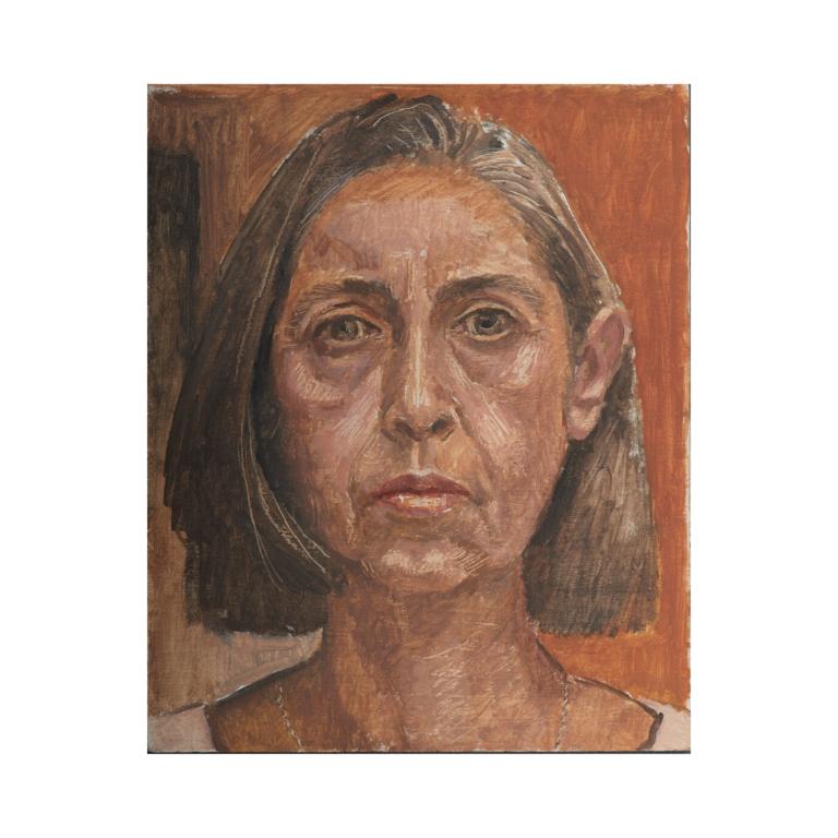 «Αυτοπροσωπογραφία», 2015, λάδι σε χαρτόνι, 30 x 24 εκ., Ιδιωτική συλλογή