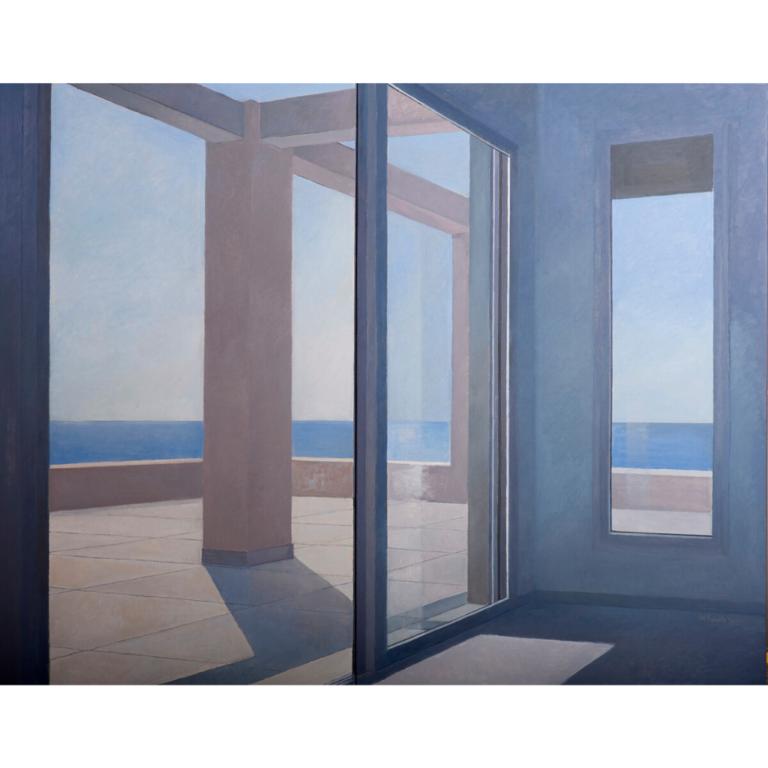 «Το μέσα και το έξω», 2012, λάδι σε μουσαμά, 140 x 176 εκ., Ιδιωτική συλλογή