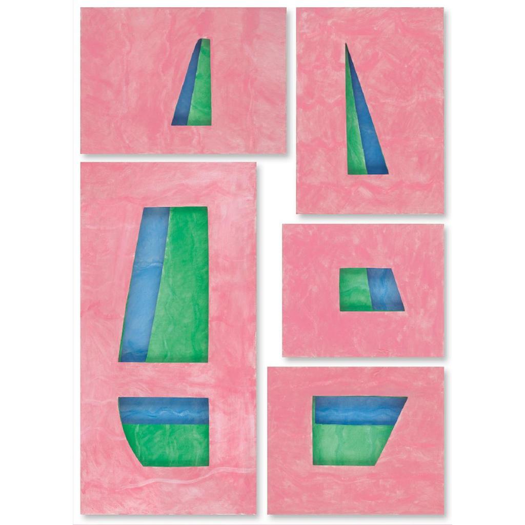 Εικόνα (4) «Πλοίο», Παζλ με πέντε έργα κοπτικής σε τρία παράλληλα επίπεδα μουσαμά το καθένα. Σειρά Καραμέλες. Ακρυλικά, 180 Χ 120 εκ. Τ.Ι.Τ. 2015.2916